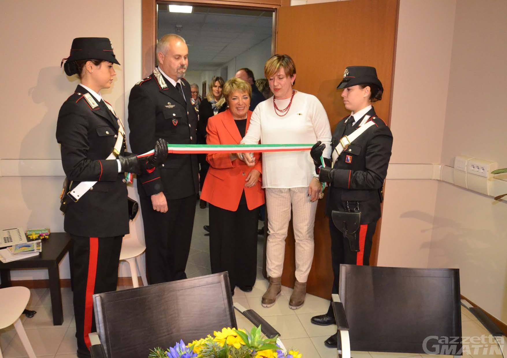 """Carabinieri, da un anno c'è """"Una stanza tutta per sé"""" per le vittime di abusi"""