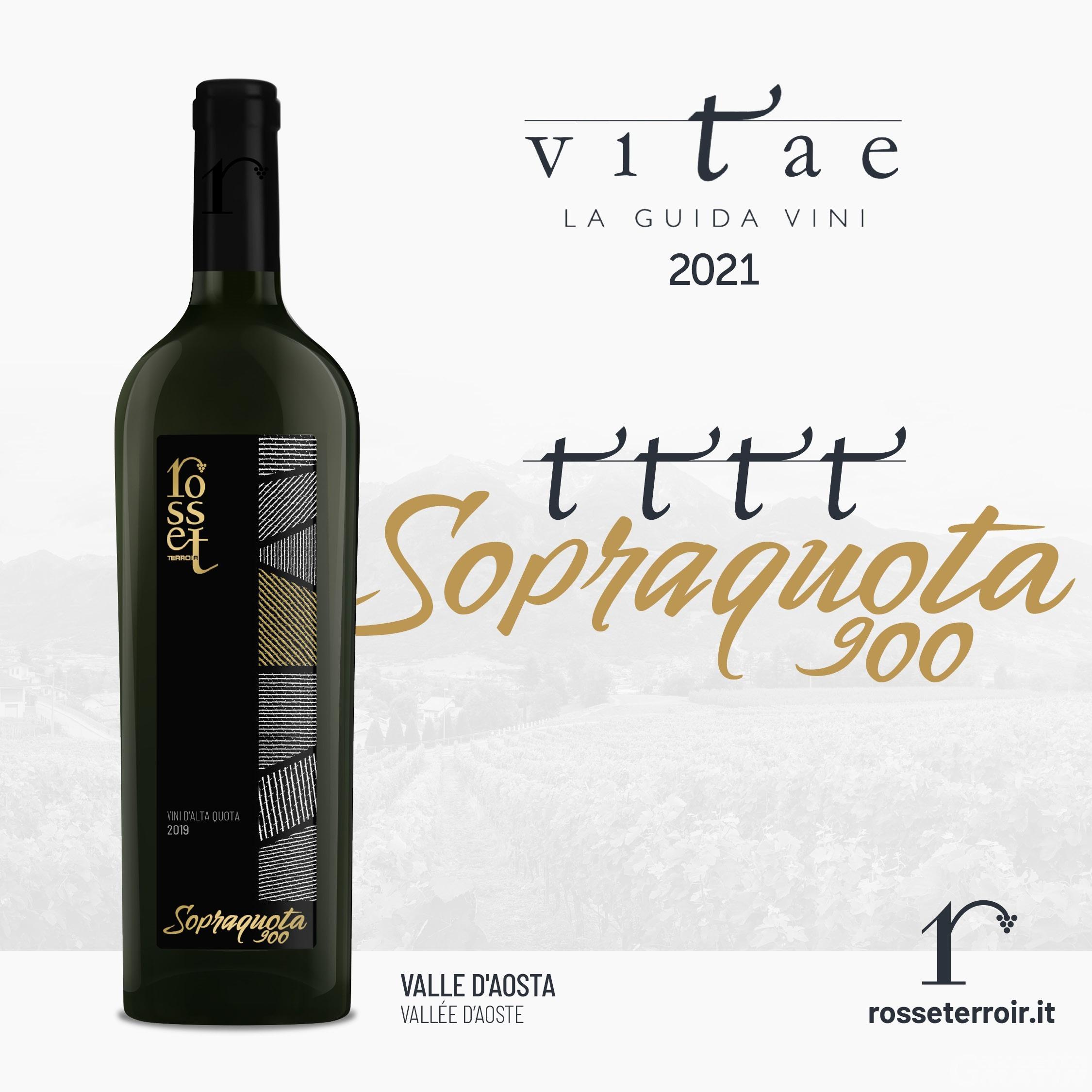 Anche per i sommelier italiani il Sopraquota 900 è il miglior vino bianco d'Italia