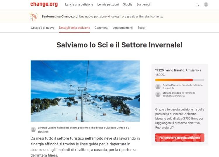Sci: una petizione per salvare la stagione, in un giorno oltre 12 mila firme