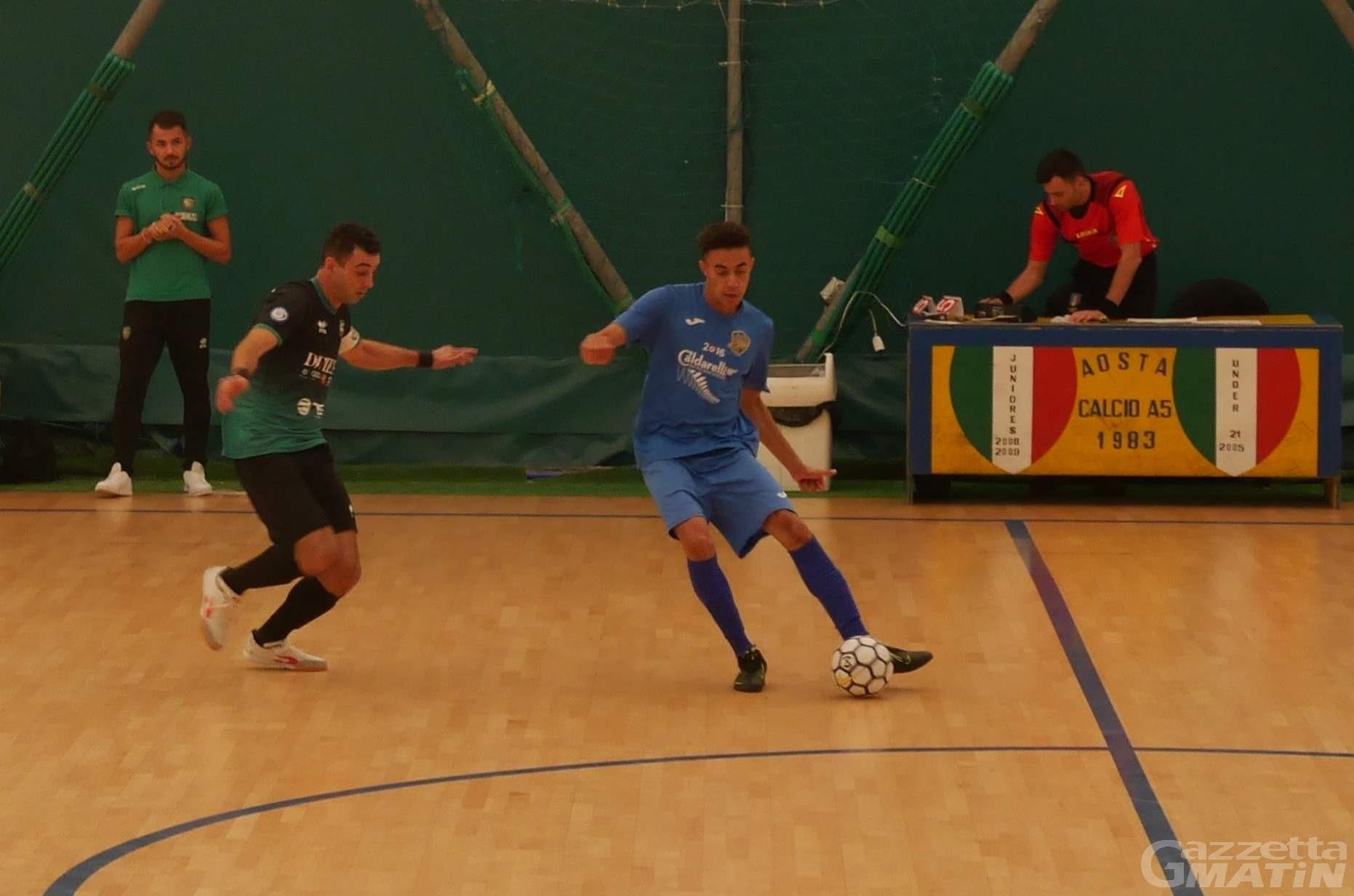 Futsal: l'Aosta Calcio 511 si arrende 4-2 a Brandizzo