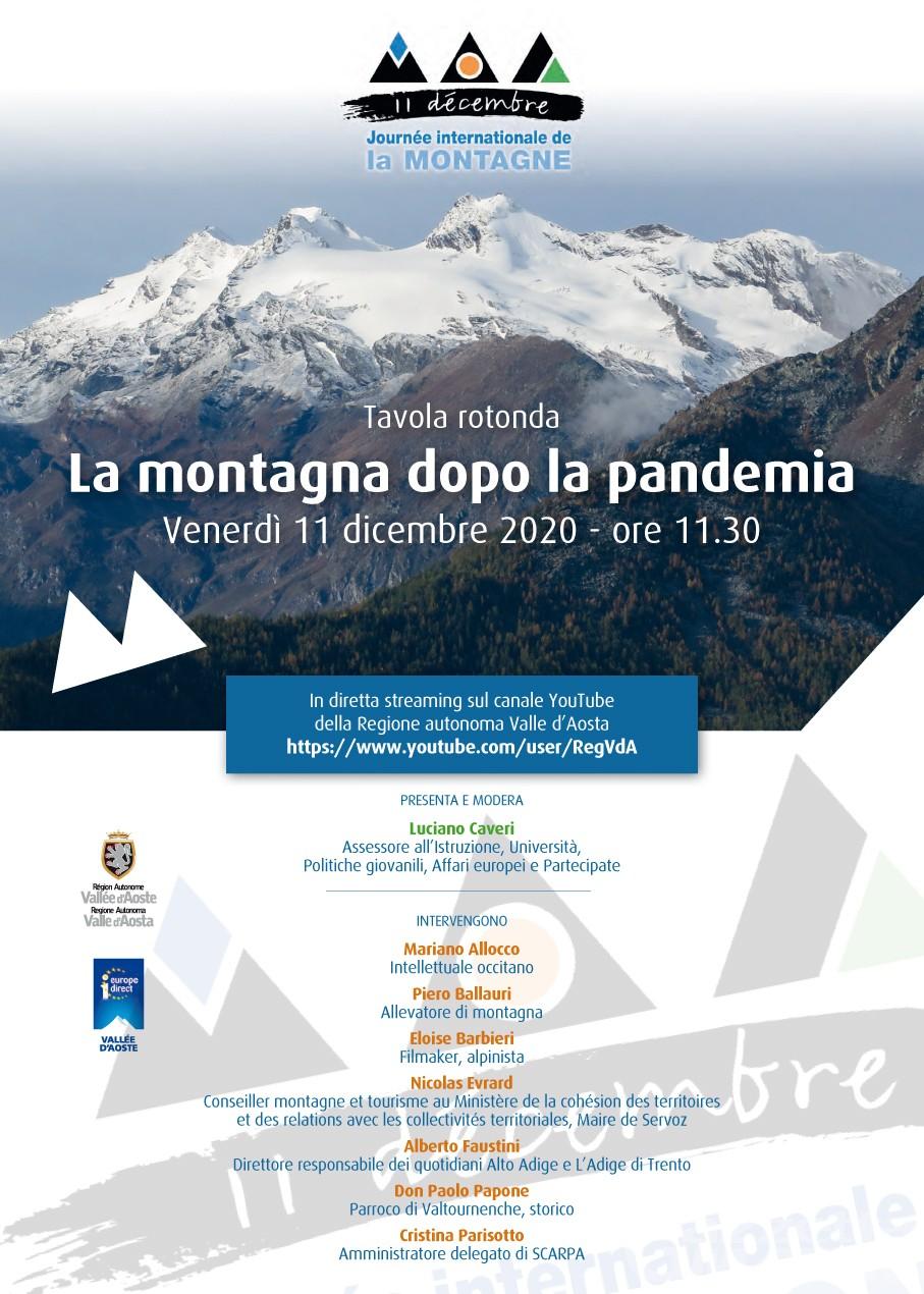 """""""La montagna dopo la pandemia"""": tavola rotonda per celebrare la Gionata internazionale"""
