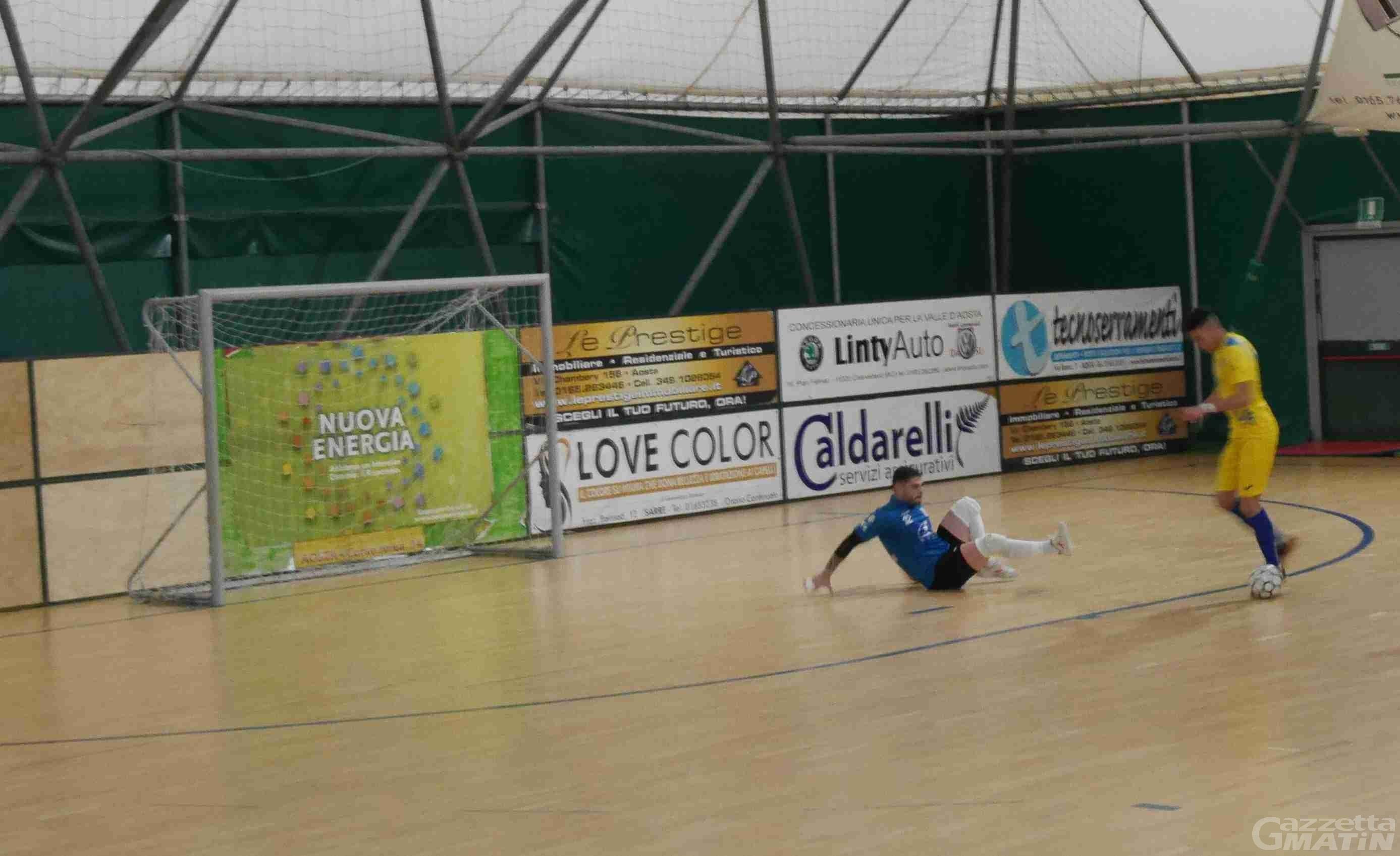 Futsal: Aosta Calcio 511 raggiunta 2 volte, con il Bubi Merano è pareggio per 2-2