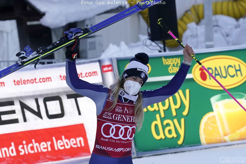 Sci alpino: Marta Bassino concede il bis, Federica Brignone out a Kranjska Gora