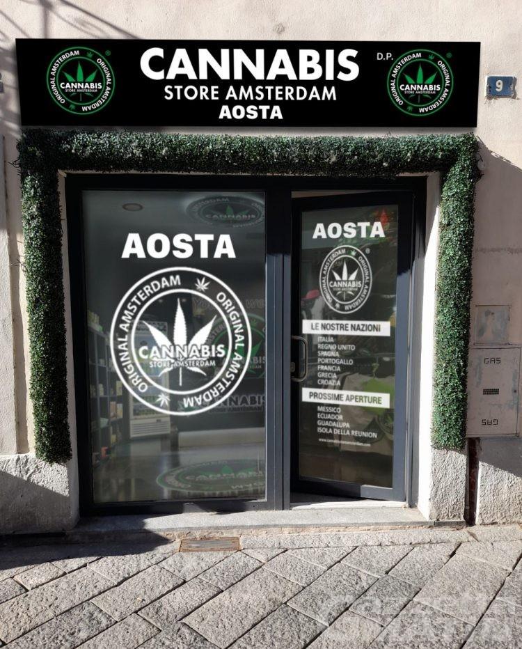 Cannabis Store Amsterdam, adesso anche in centro a Aosta