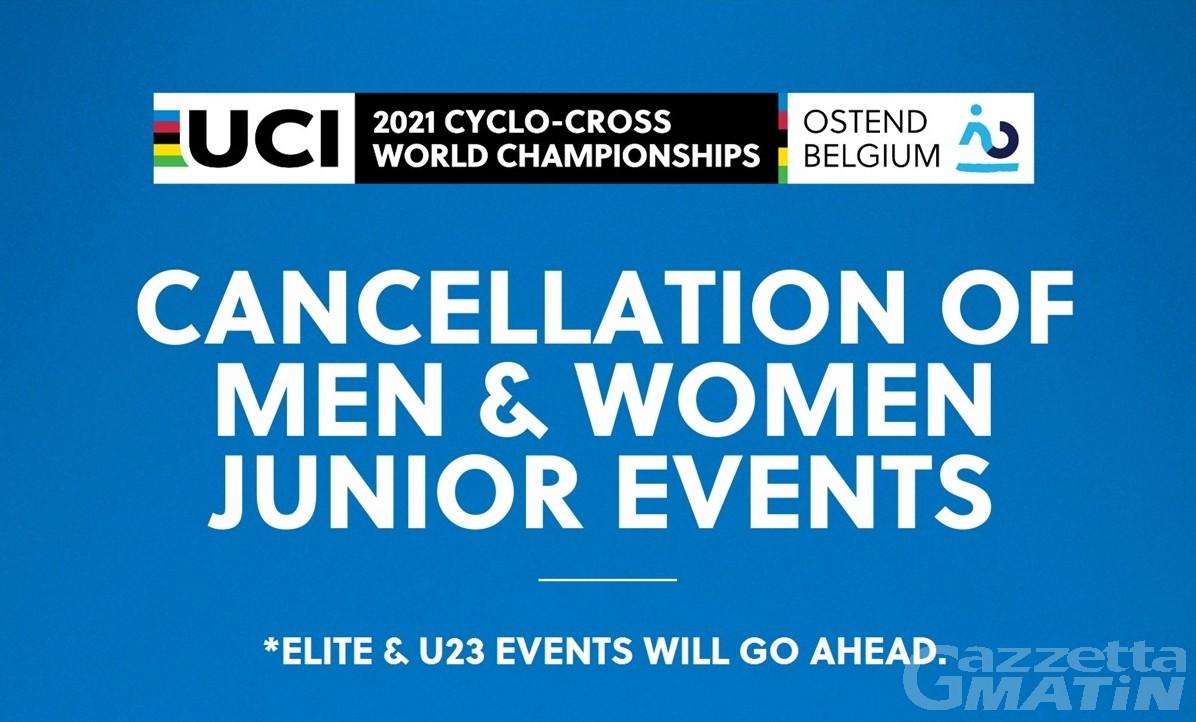 Ciclocross: niente campionati mondiali per gli Junior