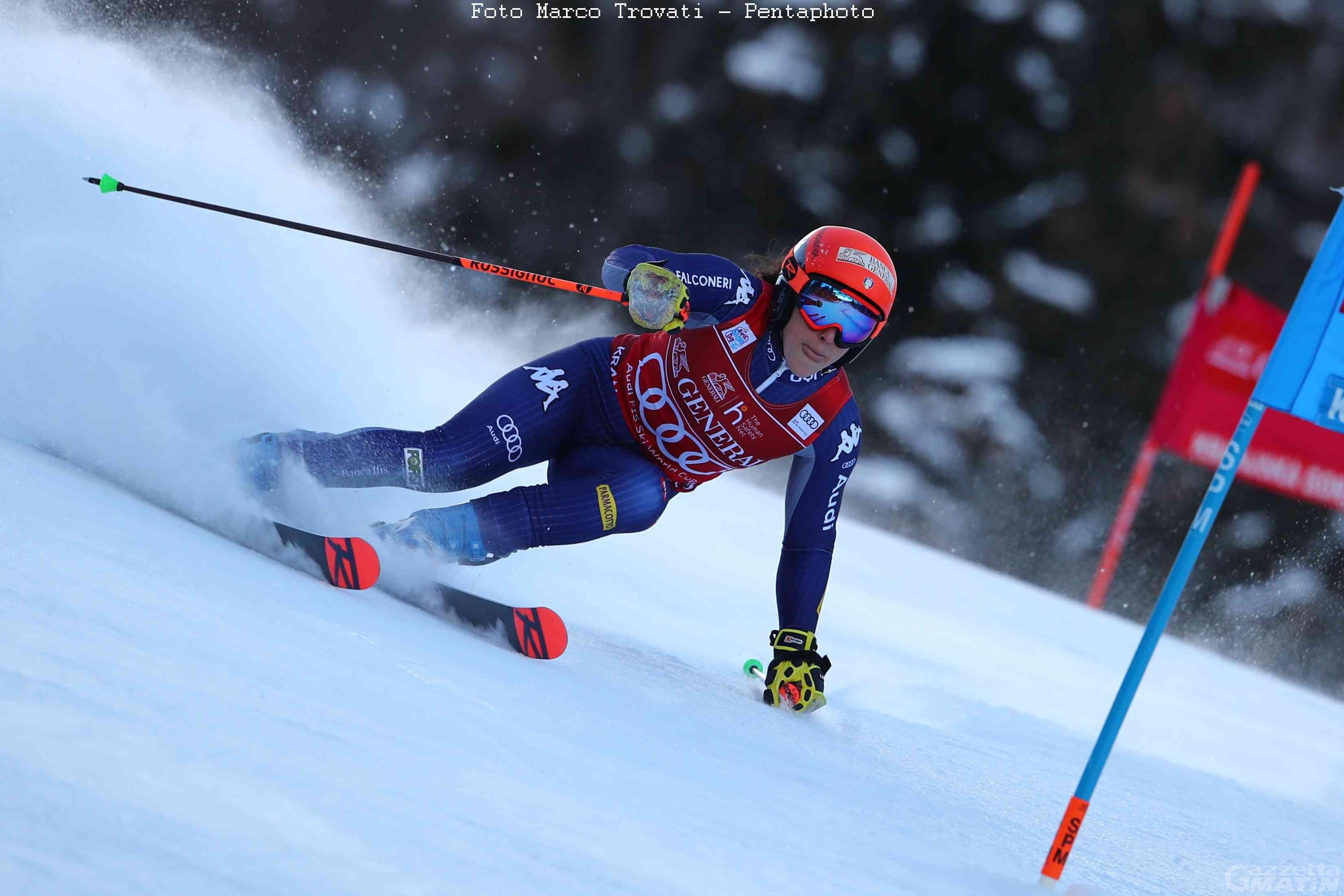 Sci alpino: prima manche difficile per Federica Brignone a Kranjska Gora