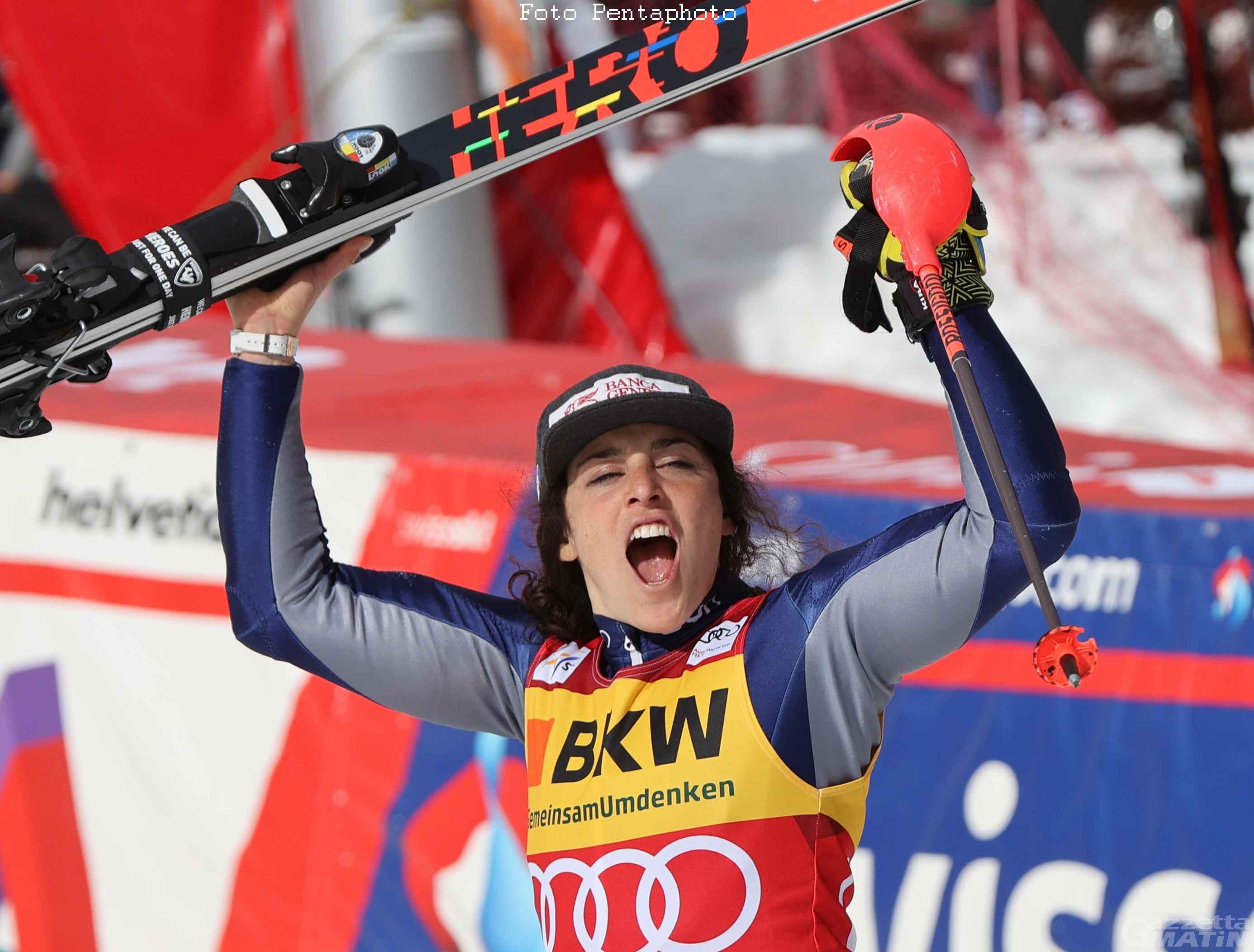 Sci alpino: Federica Brignone trionfa e scrive la storia