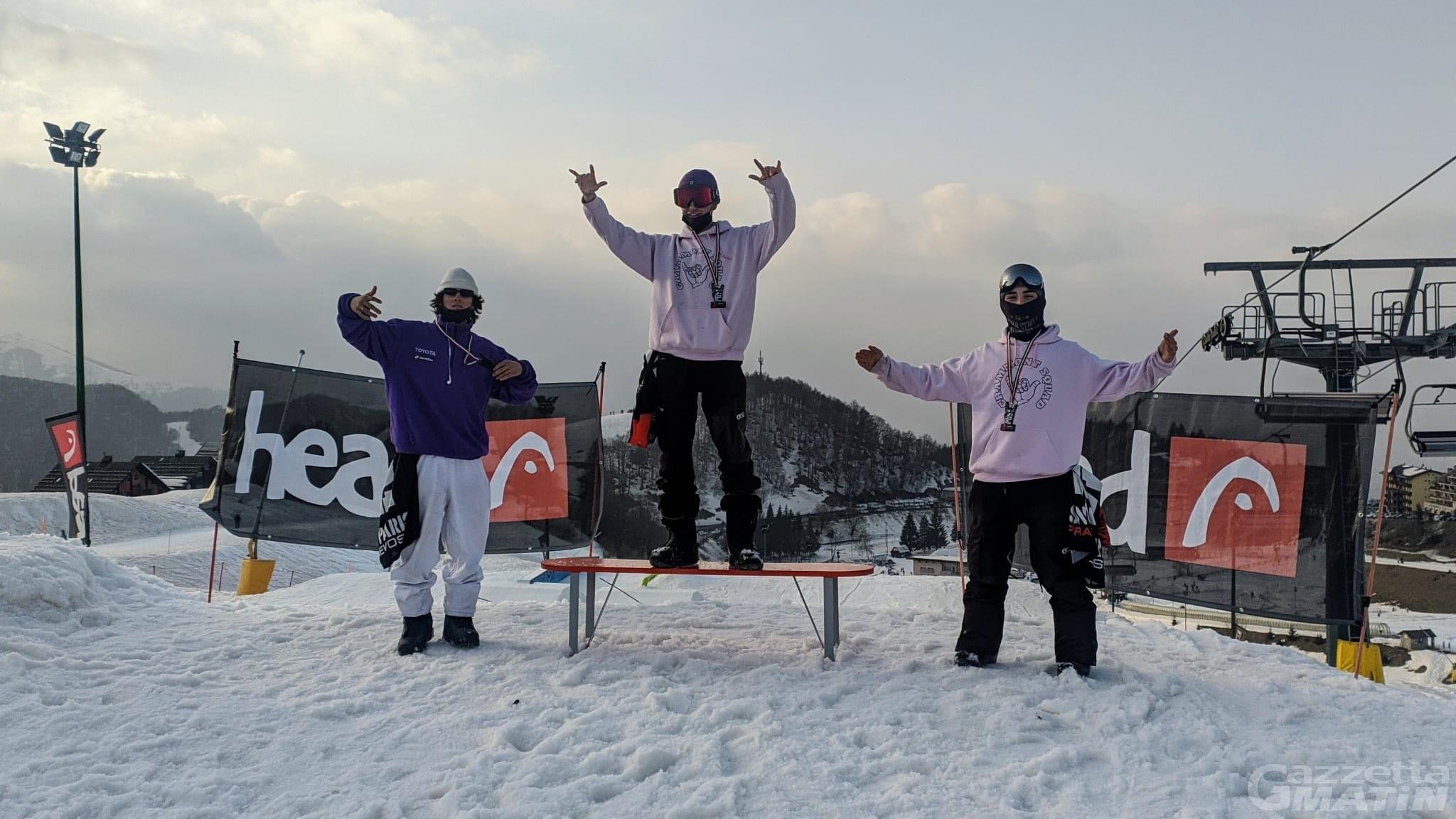 Snowboard: valdostani protagonisti in Coppa Italia a Prato Nevoso