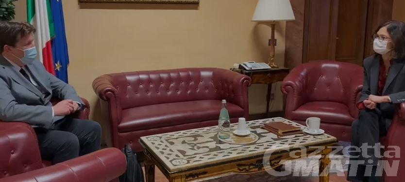 Lavevaz incontra ministro Gelmini e chiede interventi rapidi e specifici per ristorare il Sistema Montagna