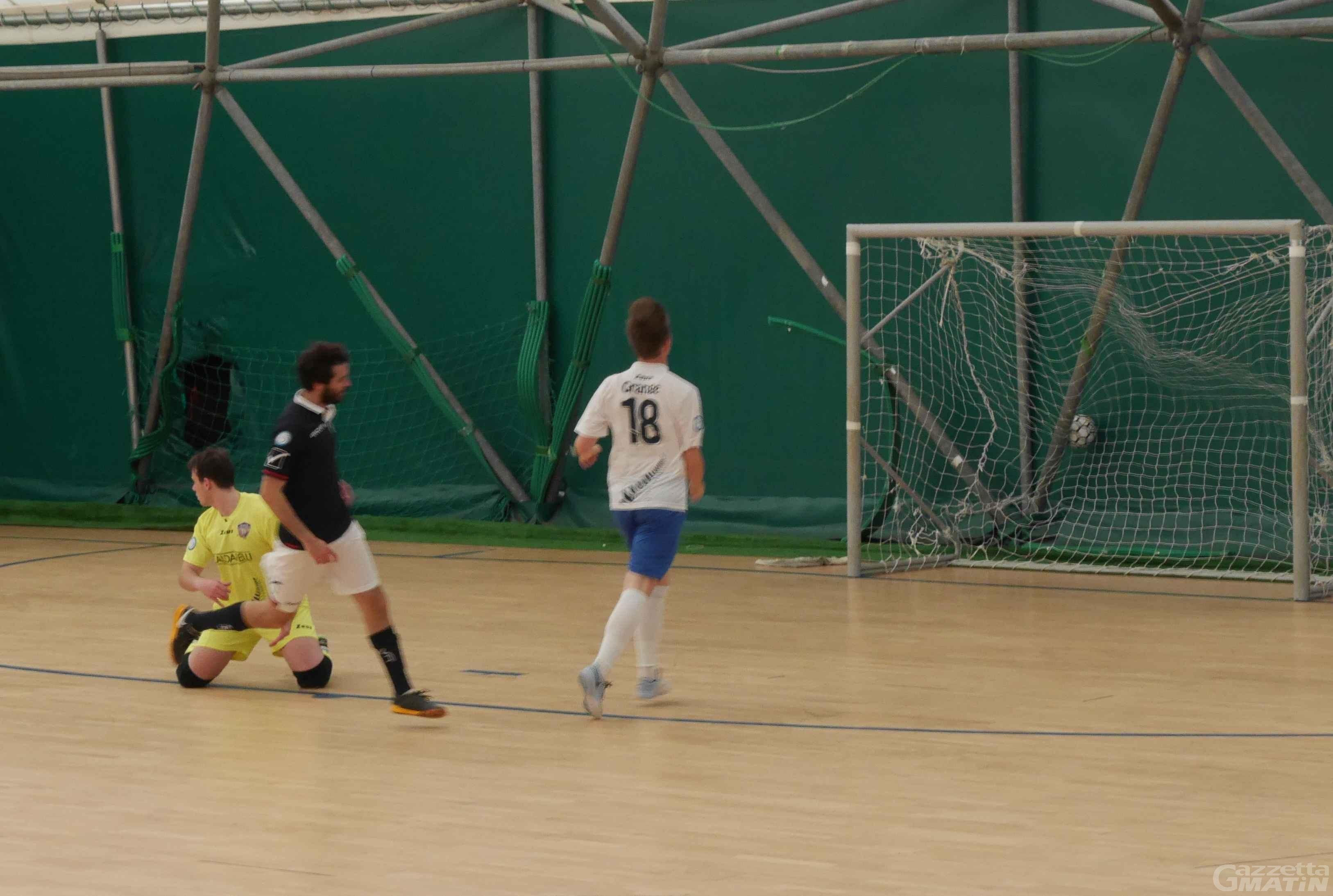 Futsal: l'Aosta Calcio 511 si inchina di misura al Milano