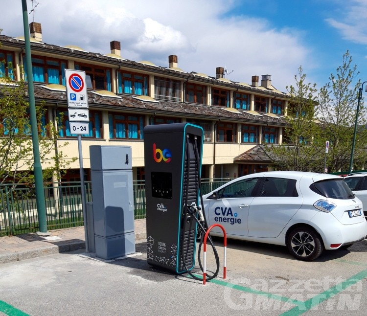 Mobilità elettrica: colonnine di ricarica anche a Charvensod