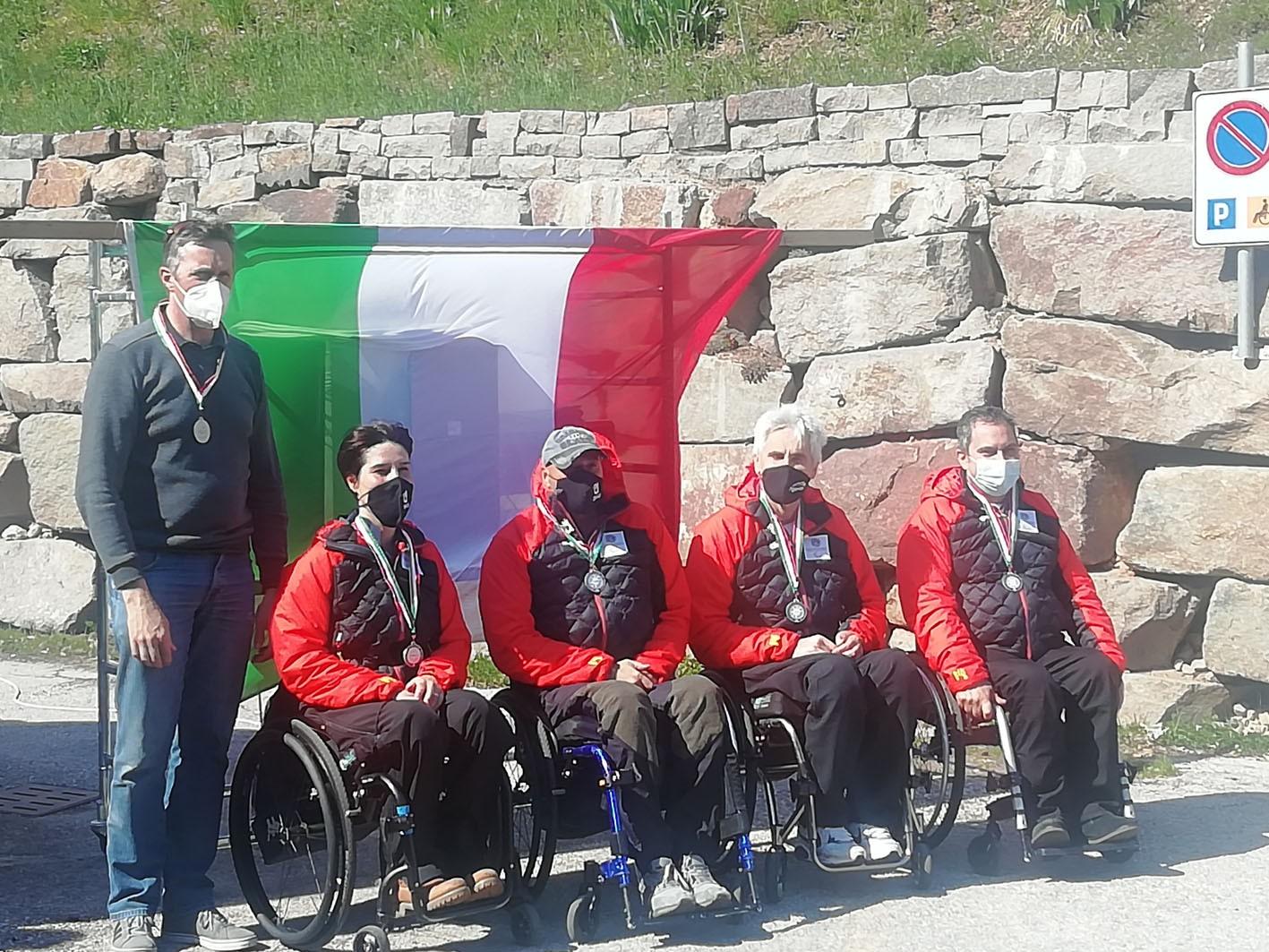 Wheelchair curling: la squadra Disval vice campione d'Italia