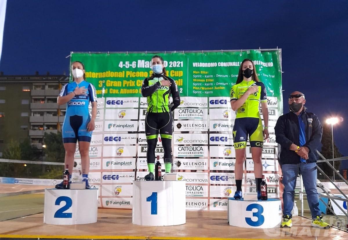 Ciclismo su pista: Gaia Tormena protagonista nel Piceno Sprint